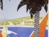 Sainte Maxime plage hiver ete Broders affiche
