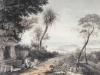 Vue... de Nice prise des hauteurs de Villefranche Lithographie Champin 1850