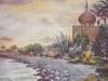 Allavena Rosa San Remo acquarelle ca 1890 coll Bessone