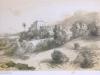 Le Mont Carmel (golfe de Gènes) Lithographie Champin in Album portaitf de l'Italie... 1850