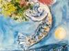 Chagall 1962, la baie des anges, affiche