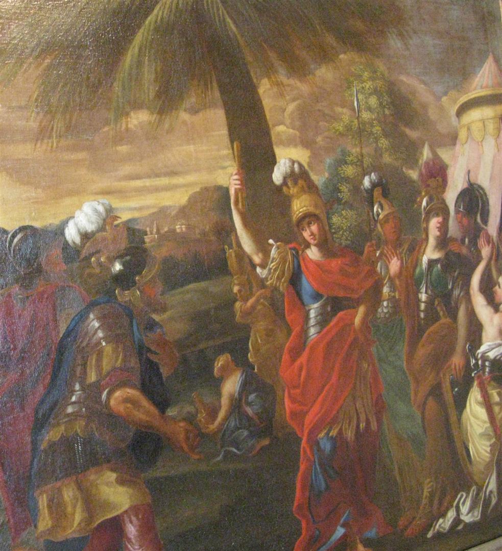 Courtois Guillaume Athena retenant la colere d'Achille 17°s Musee Bourg-en-Bresse