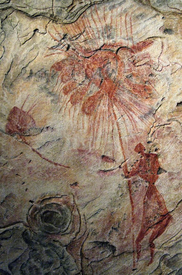 Libye Cueillette des dattes Gravure rupestre Akakus fin neolithique