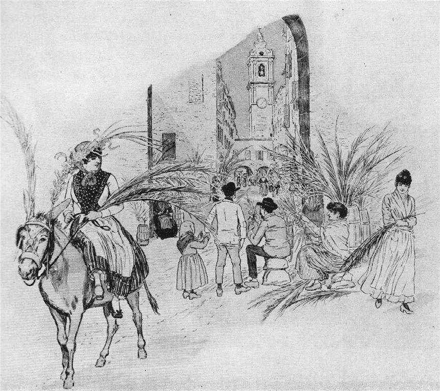 Rameaux Bordighera 1888