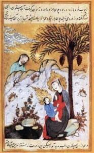Sainte Marie fuite en egypte miniature-persane-date-et-auteur-inconnus