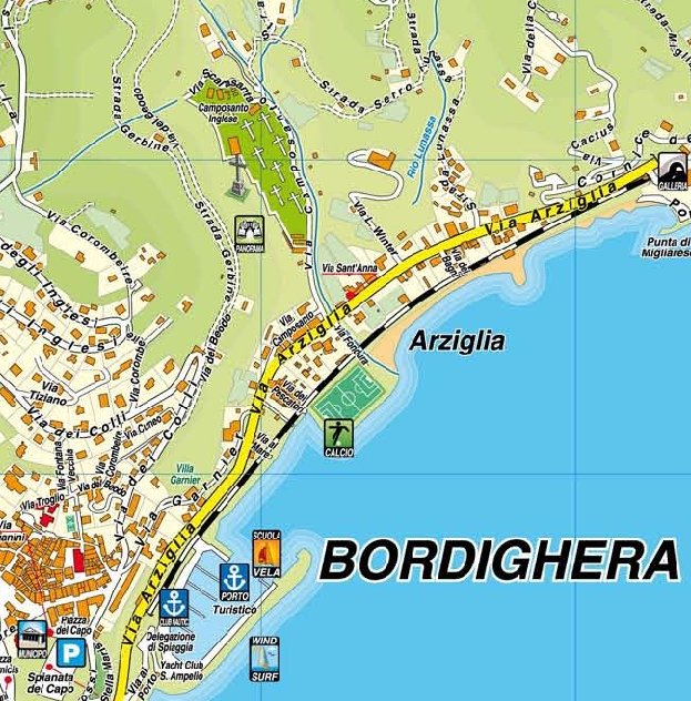 Bordighera Carte geoplan