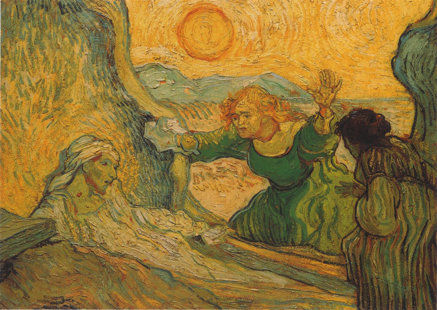 Palmsunday Lazare Resurrection VanGogh