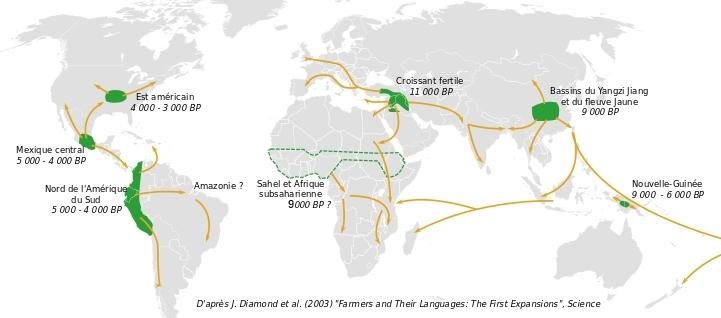 Neolithique distribution des foyers