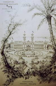 Monaco Expo Agriculture Industrie Beaux-Arts 1884 affiche