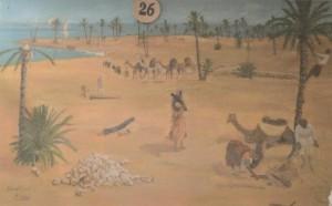 Agriculture Kerkena recolte rituelle du bois de palmier