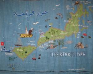 Carte Kerkena archipel